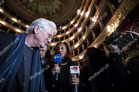 Richard Gere (L) attends an event, titled 'Au revoir bb,' in tribute to the late Italian film director Bernardo Bertolucci at the Teatro Argentina in Rome, Italy, 06 December 2018. Bertolucci died on 26 November 2018, after suffering from cancer. He was 77.