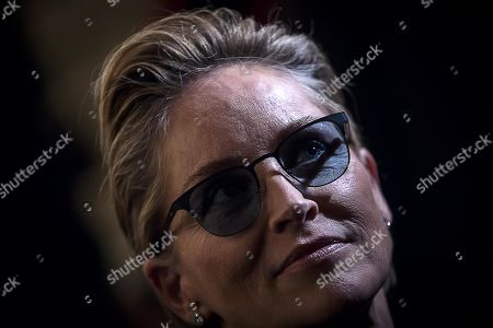 US actess Sharon Stone attends an event, titled 'Au revoir bb,' in tribute to the late Italian film director Bernardo Bertolucci at the Teatro Argentina in Rome, Italy, 06 December 2018. Bertolucci died on 26 November 2018, after suffering from cancer. He was 77.