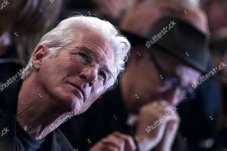 Richard Gere attends an event, titled 'Au revoir bb,' in tribute to the late Italian film director Bernardo Bertolucci at the Teatro Argentina in Rome, Italy, 06 December 2018. Bertolucci died on 26 November 2018, after suffering from cancer. He was 77.