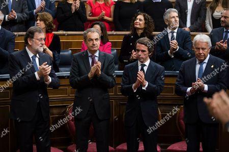 Mariano Rajoy, Jose Luis Rodriguez Zapatero, Felipe Gonzalez, Jose Maria Aznar and Pedro Sanchez