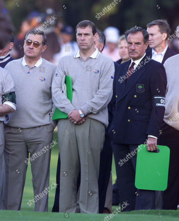 Editorial image of Golf Ryder Cup 1999 - First Day - Picture Shows : Prince Andrew Watches At The First Tee With Lord Maclaurin Of Knebworth (right).