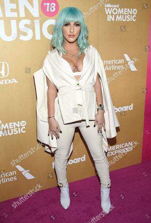 Njomza attends the 13th annual Billboard Women in Music event at Pier 36, in New York
