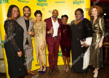 Stock Photo of Michelle Greenidge, Karl Collins, Rebekah Murrell, Oliver Alvin-Wilson, Natasha Gordon, Cecilia Noble & Hattie Ladbury