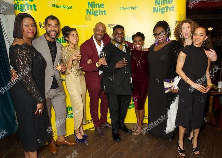 Stock Picture of Michelle Greenidge, Karl Collins, Rebekah Murrell, Oliver Alvin-Wilson, Natasha Gordon, Cecilia Noble & Hattie Ladbury