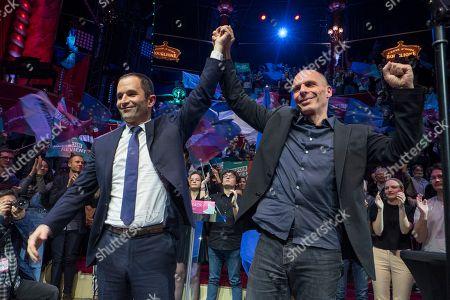 Benoit Hamon and Yanis Varoufakis