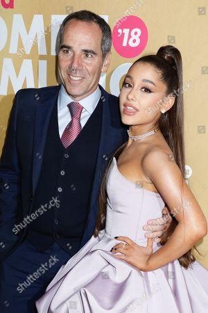 Monte Lipman and Ariana Grande