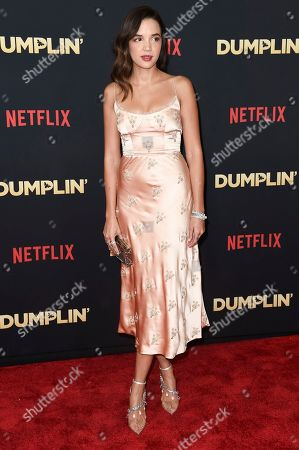 """Georgie Flores attends the world premiere of """"Dumplin'"""" at TCL Chinese Theatre, in Los Angeles"""