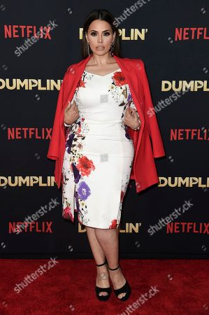 """Stock Image of Rosie Mercado attends the world premiere of """"Dumplin'"""" at TCL Chinese Theatre, in Los Angeles"""