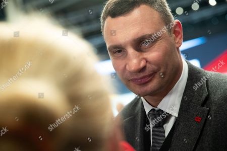 Ukrainian former professional boxer Wladimir Klitschko speaks to the media during the 31st Party Congress of the Christian Democratic Union (CDU) in Hamburg, Germany, 07 December 2018. At the party congress, a new party leader is to be elected. Associated with the new party leader is the debate over the fundamental political orientation of the CDU after Chancellor Merkel will no longer hold this office.