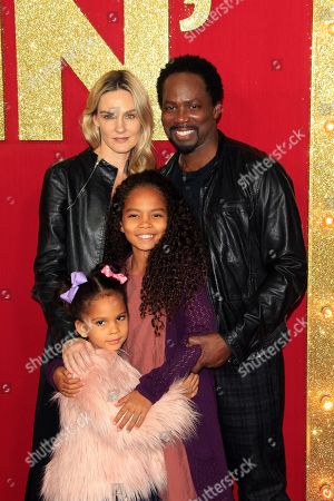 Brittany Perrineau (L) and her husband US actor/cast member Harold Perrineau (R), and their children Wynter Perrineau and Holiday Perrineau arrive for the world premiere of the film Dumplin' at the TCL Chinese 6 Theaters in Hollywood, California, USA, 06 December 2018. The movie opens on Netflix and in select theaters 07 December 2018.