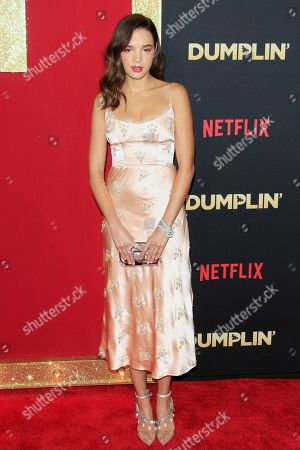 Georgie Flores arrives for the world premiere of the film Dumplin' at the TCL Chinese 6 Theaters in Hollywood, California, USA, 06 December 2018. The movie opens on Netflix and in select theaters 07 December 2018.