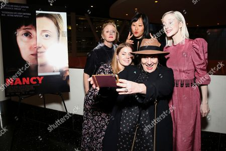 """J. Smith-Cameron, Andrea Riseborough, Amy Adams, Arianne Phillips, Christina Choe. J. Smith-Cameron, director Christina Choe Andrea Riseborough, Amy Adams and Arianne Phillips seen at the special screening and Q&A of """"Nancy"""" at the ArcLight Hollywood, in Los Angeles"""