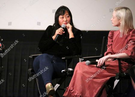 """Christina Choe, Andrea Riseborough. Director Christina Choe and Andrea Riseborough seen at the special screening and Q&A of """"Nancy"""" at the ArcLight Hollywood, in Los Angeles"""