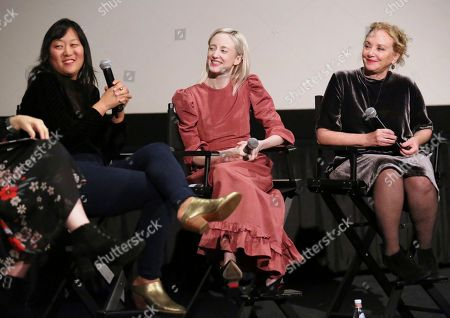 """Christina Choe, Andrea Riseborough, J. Smith-Cameron. Director Christina Choe, Andrea Riseborough and J. Smith-Cameron seen at the special screening and Q&A of """"Nancy"""" at the ArcLight Hollywood, in Los Angeles"""