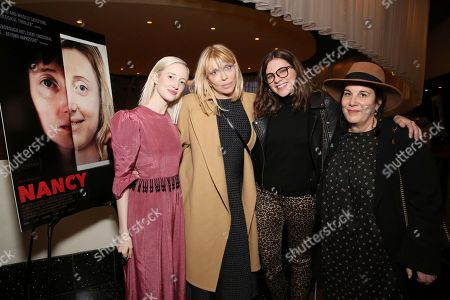 """Andrea Riseborough, Courtney Love, Arianne Phillips. Andrea Riseborough, Courtney Love and Arianne Phillips seen at the special screening and Q&A of """"Nancy"""" at the ArcLight Hollywood, in Los Angeles"""