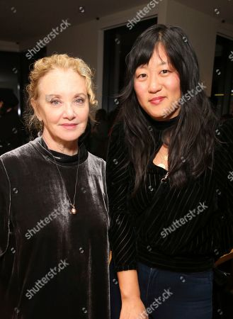 """J. Smith-Cameron, Christina Choe. J. Smith-Cameron and director Christina Choe seen at the special screening and Q&A of """"Nancy"""" at the ArcLight Hollywood, in Los Angeles"""
