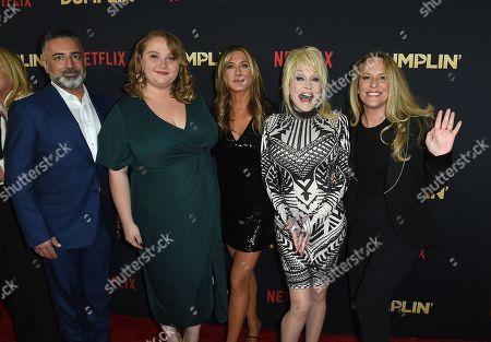 Producer Mohamed AlRafi of 50 Degrees Entertainment, Danielle Macdonald, Jennifer Aniston, Dolly Parton, Anne Fletcher