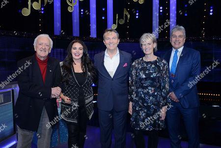 (L-R) Bernard Cribbins, Scarlett Moffatt, Bradley Walsh, Judy Murray and John Inverdale