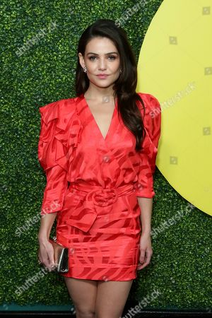 Danielle Campbell arrives at the 2018 GQ's Men of the Year Celebration, in Beverly Hills, Calif