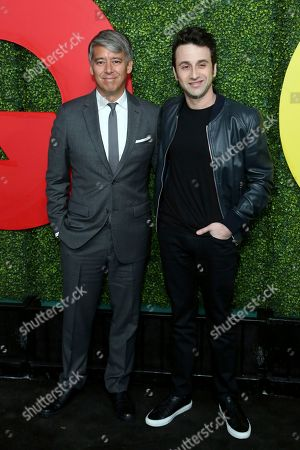 Tom Cross, Justin Hurwitz. Tom Cross, left, and Justin Hurwitz arrive at the 2018 GQ's Men of the Year Celebration, in Beverly Hills, Calif
