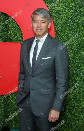 Tom Cross arrives at the 2018 GQ's Men of the Year Celebration, in Beverly Hills, Calif
