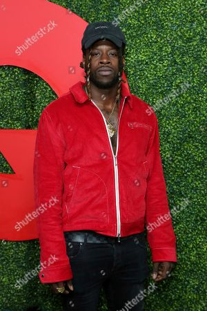 Jay Ajayi arrives at the 2018 GQ's Men of the Year Celebration, in Beverly Hills, Calif
