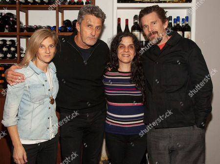 Stock Image of Ryan Shawhughes, from left, director Pawel Pawlikowski, producer Tanya Seghatchian and actor Ethan Hawke