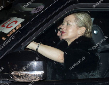 Lady Helen Taylor The Duke Of Kent's Daughter Arriving At Windsor Castle To Join Hm The Queen And Prince Phillip For A Dinner To Celebrate Their 70th Wedding Anniversary.