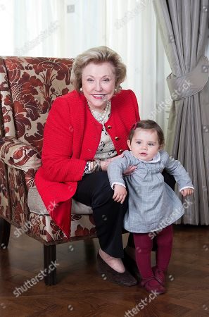 Interview With Barbara Taylor Bradford At The Dorchester Hotel In Central London. Story About Barbara And Her Beloved God-daughter Catalina And The God-daughters Baby Also Called Catalina Who Is Like A Grandchild To Her.