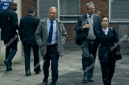 Martin Clunes as DCI Colin Sutton, Steffan Rhodri as DC Neil Jones and Katie Lyons as DS Jo Brunt.