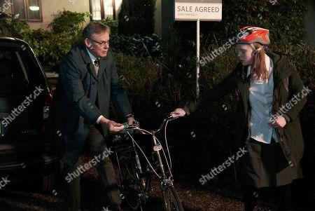 Martin Clunes as DCI Colin Sutton and Anna Burnett as Kat Sutton.