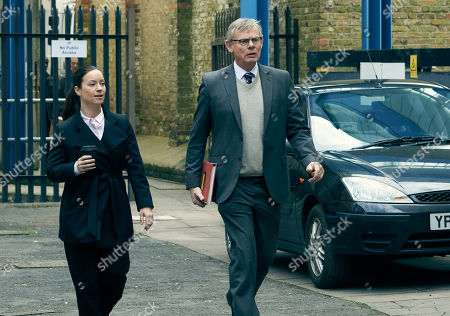 Martin Clunes as DCI Colin Sutton and Katie Lyons as DS Jo Brunt.