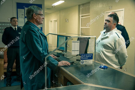 Stock Image of Martin Clunes as DCI Colin Sutton and Celyn Jones as Levi Bellfield.