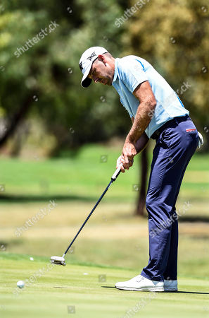 Charl Schwartzel of South Africa plays a shot during the South African Open Golf Championship at the Randpark Golf Club in Johannesburg, South Africa, 07 December 2018.