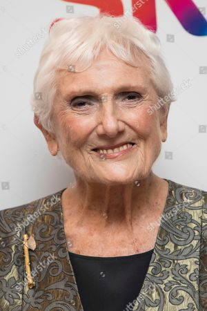 Stock Photo of Beryl Vertue poses for photographers upon arrival at the Women in Film and TV Awards, in London