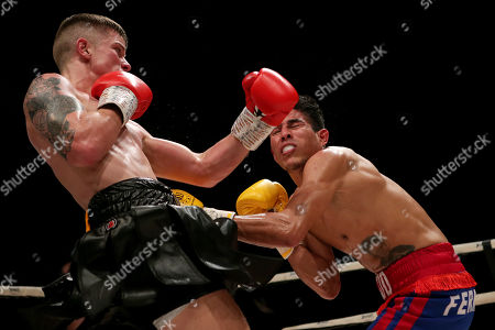 Stock Photo of Dylan Moran vs Nelson Altamirano. Dylan Moran and Nelson Altamirano