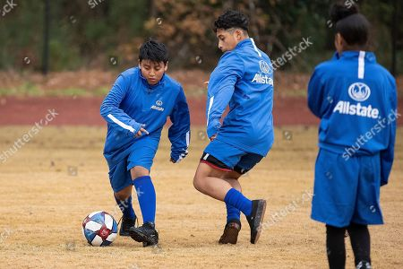 Ahead of the MLS Cup, students from Jean Childs Young Middle School run drills during a clinic hosted by Allstate and MLS coach Brad Friedel on Friday, December 7, 2018 in Atlanta. Allstate, a longtime supporter of the soccer community, is the Official Insurance Partner of Major League Soccer (MLS