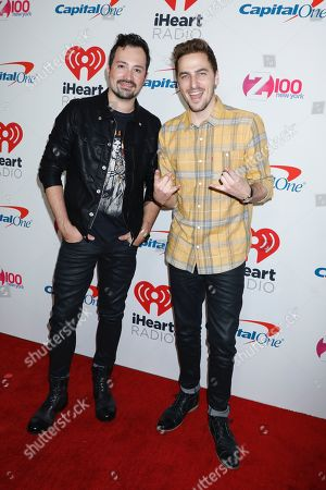 Stock Picture of Dustin Belt and Kendall Schmidt (Heffron Drive)