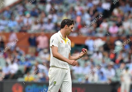 Patrick Cummins of Australia in action during day three of the first Test match between Australia and India at the Adelaide Oval in Adelaide, Australia, 08 December 2018.