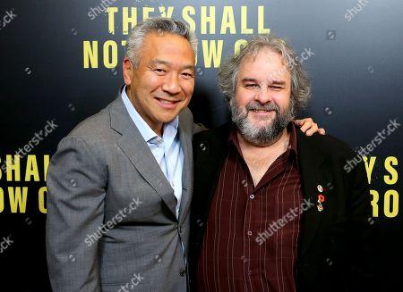 Kevin Tsujihara and Peter Jackson