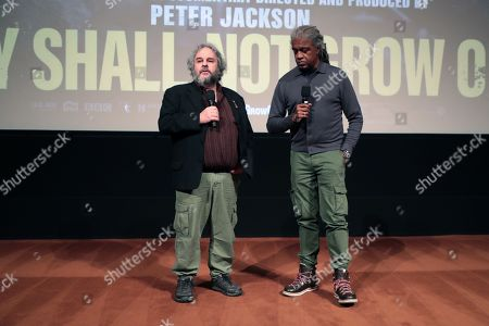 Director Peter Jackson and Moderator Elvis Mitchell