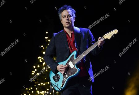 """M. Ward of the music duo She & Him performs during the """"A Very She & Him Christmas Party"""" at the Wiltern Theatre, in Los Angeles"""