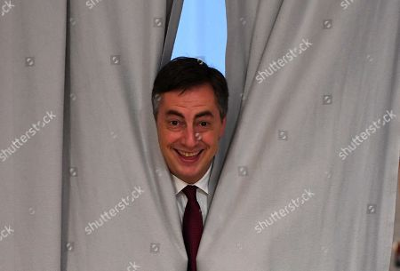 David McAllister, vice president of the European People's Party, peeks behind curtains in backstage of the 31st Party Congress of the Christian Democratic Union (CDU) in Hamburg, Germany, 08 December 2018. Annegret Kramp-Karrenbauer was elected as the new CDU chairwoman on 07 December with the debate going on over the fundamental political orientation of the CDU after Chancellor Merkel will no longer hold this office.