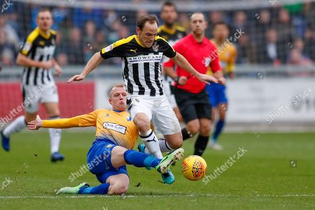 Notts County midfielder David Vaughan (8) in action  during the EFL Sky Bet League 2 match between Mansfield Town and Notts County at the One Call Stadium, Mansfield
