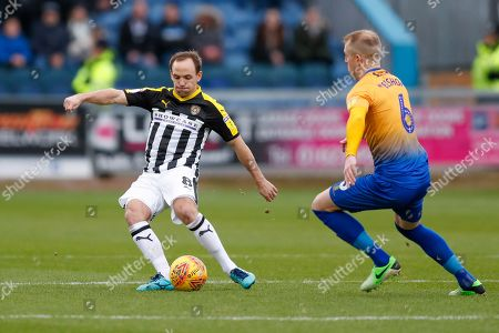 Notts County midfielder David Vaughan (8)  during the EFL Sky Bet League 2 match between Mansfield Town and Notts County at the One Call Stadium, Mansfield