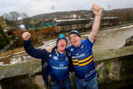 Bath vs Leinster. Leinster fans Bosco Whelan and Tom Carroll