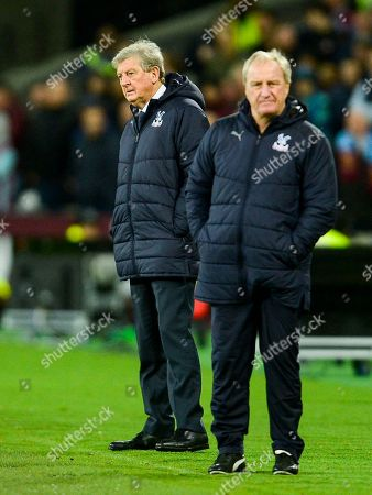 Stock Image of Roy Hodgson manager of Crystal Palace with assistant manager Ray Lewington