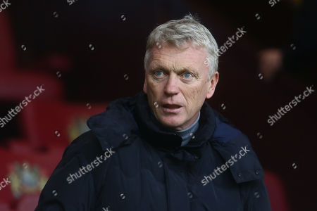 Stock Photo of Former Manchester United and Everton manager David Moyes watches on