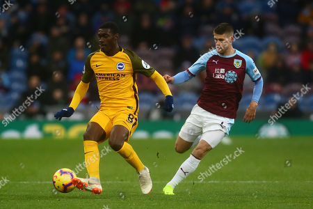 Johann Berg Gudmundsson of Burnley and Brighton's Yves Bissouma