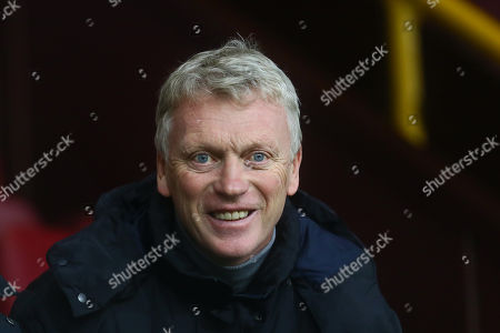 Stock Picture of Former Manchester United and Everton manager David Moyes watches on